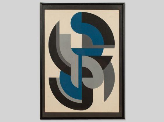 "Serigraphy ""Colour composition"" by Friedrich Kracht, 1984   Auctionata"