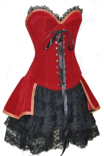 Damen Piraten-Corsage ca 29€  Kostüm-Idee zu Karneval, Halloween & Fasching
