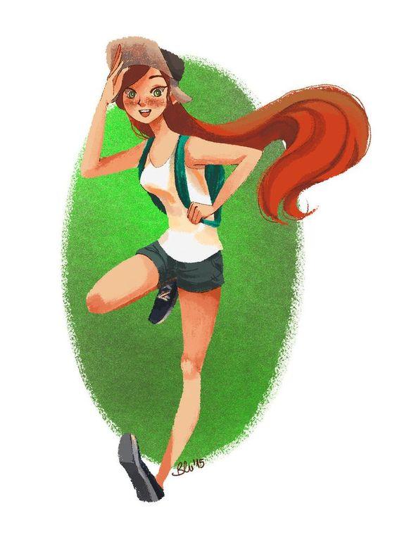Gravity Falls,Wendy Corduroy,GF art: