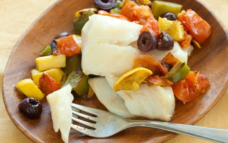 Baked Cod with Summer Veggies