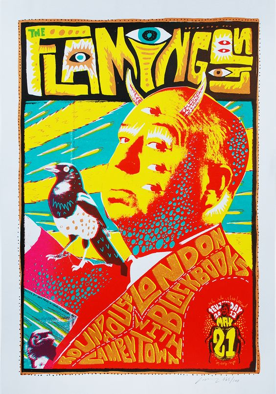 La bellezza dei poster del rock - Flaming Lips, 21 maggio 2013, Londra