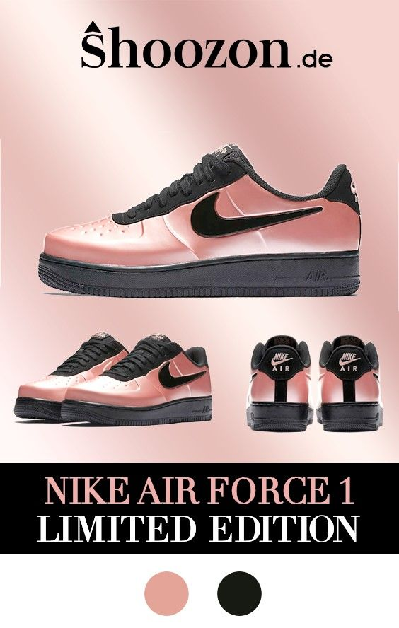 Herren Sneaker Nike Air Force 1 Schwarz & Pink