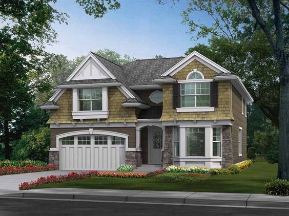 Eplans Craftsman House Plan - Shingle-Style with Compact Floor Plan a Builder Favorite - 2651 Square Feet and 4 Bedrooms(s) from Eplans - House Plan Code HWEPL14175