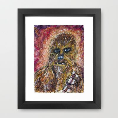 Chewy Scribble Framed Art Print by Mike Brennan - $35.00