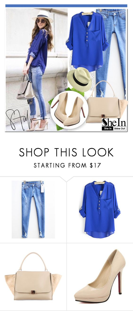 """""""Shein.com 10"""" by aida-nurkovic ❤ liked on Polyvore featuring CÉLINE and Sheinside"""