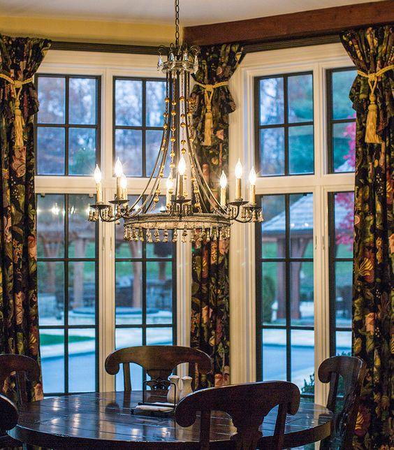Lighting design: Eileen Naughton. Private Home in Clifton, Virginia. Breakfast Nook.