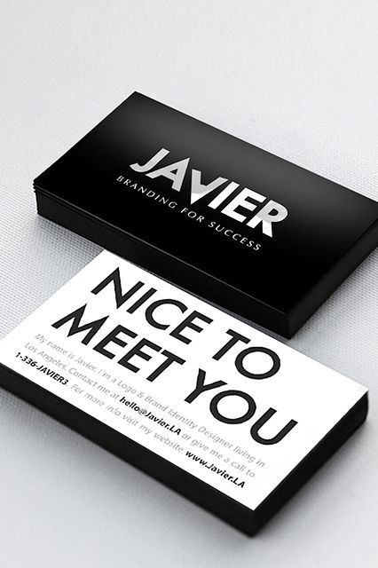 13 Insanely Cool Business Cards #refinery29  http://www.refinery29.com/unique-business-cards#slide7  When your job entails helping people and companies establish their brand identity, you should probably have a fantastic one yourself. Javier, the founder of Branding For Success, indeed accomplishes this tall order with these sleek, professional cards he designed himself.