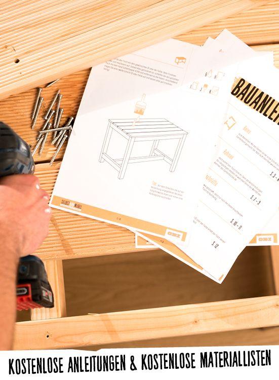 Gartentisch Mit Einer Kostenlosen Schritt Fur Schritt Anleitung Selber Bauen Deinoriginal I Diy Gart Selber Bauen Gartentisch Selber Bauen Tisch Selber Bauen