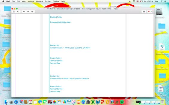 49 of Correspondence with iBooks/iTunes/Apple and me, Elizaveta Fedorova