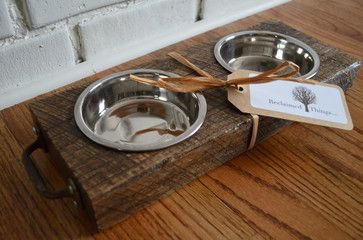 Reclaimed Wood Pet Feeder - modern - pet accessories - other metro - Reclaimed Things, LLC