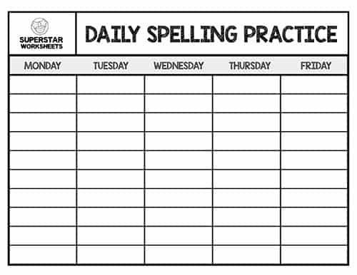 29++ Free spelling word practice worksheets Images