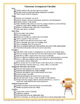 Classroom Arrangement Checklist: This checklist will help you make sure that all aspects of your classroom are ready for students. http://www.teachervision.fen.com/classroom-management/printable/7240.html #backtoschool
