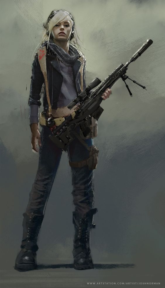 Tanya With Sniper Cyberpunk Girl Girls Characters Character Inspiration