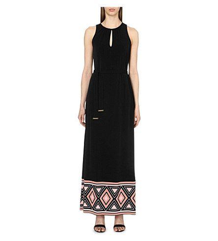 MICHAEL MICHAEL KORS Border-Print Stretch-Jersey Maxi Dress. #michaelmichaelkors #cloth #dresses
