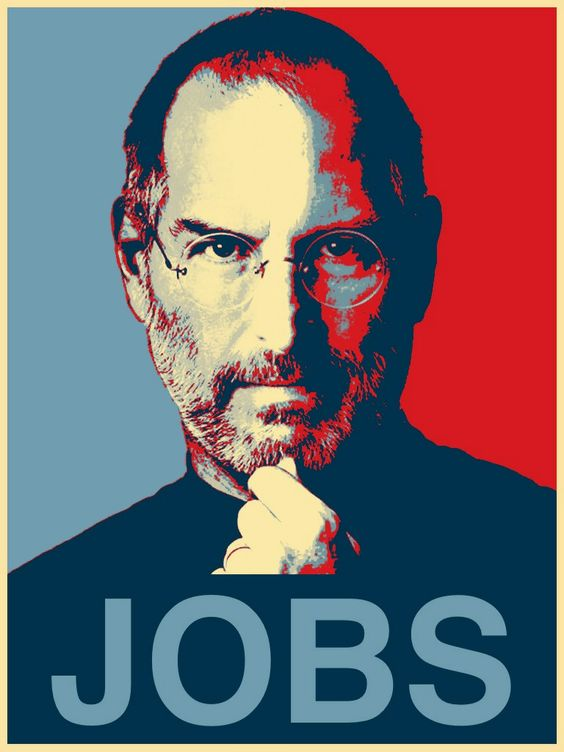 steve jobs poster Steve Jobs poster done in the Shepard Fairey style  Click to access AppSaga