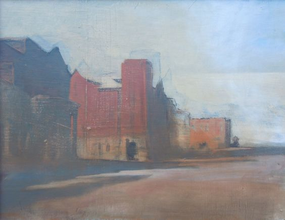 """Steve Smith (American), """"View N. Montana Ave. Butte, MT"""", 2008, oil on panel"""