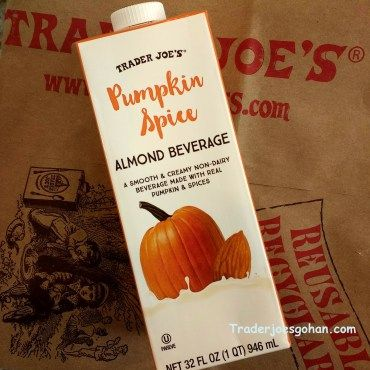 Trader Joe's | Pumpkin Spice Almond Beverage | 946 ml. $1.79  #traderjoes #pumpkinspice #almondmilk #psl