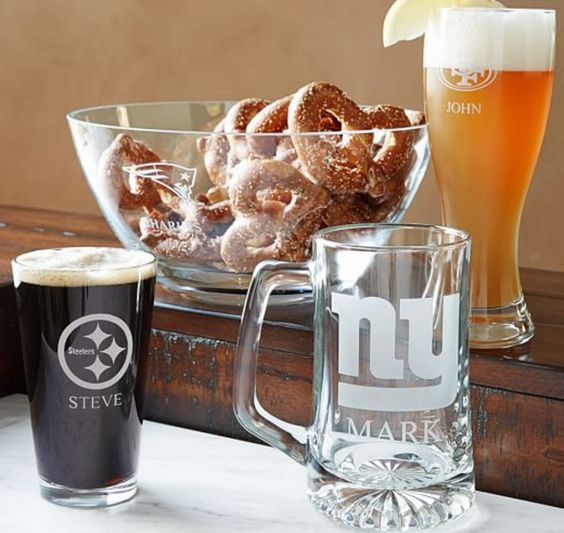 Personalized NFL Glassware