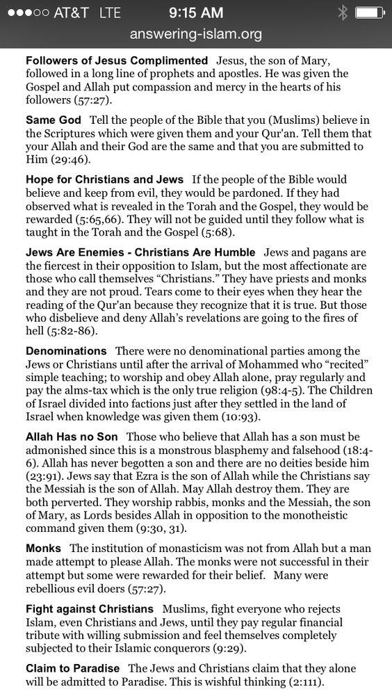 Bible vs Koran
