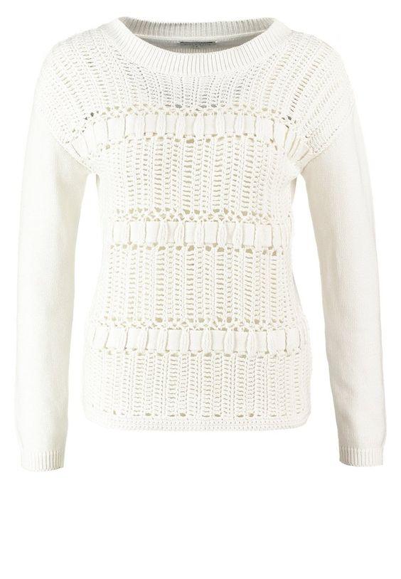 mint&berry Strickpullover - white - Zalando.de