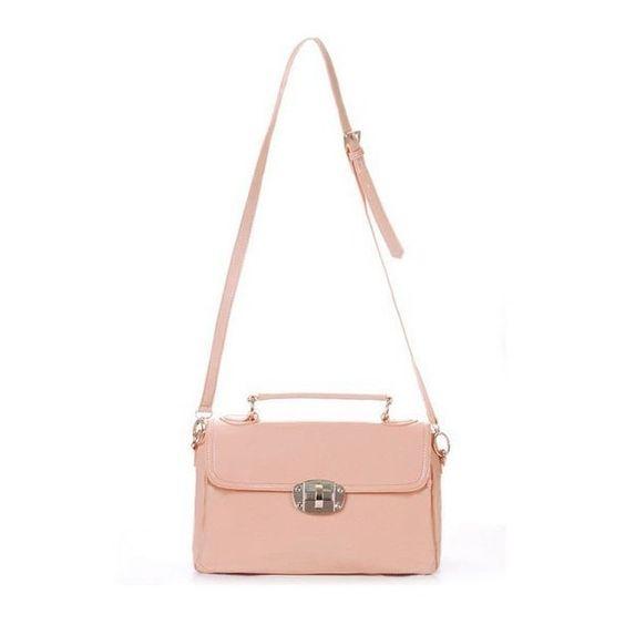 Elegant Patent Faux Leather Handbag ($60) ❤ liked on Polyvore