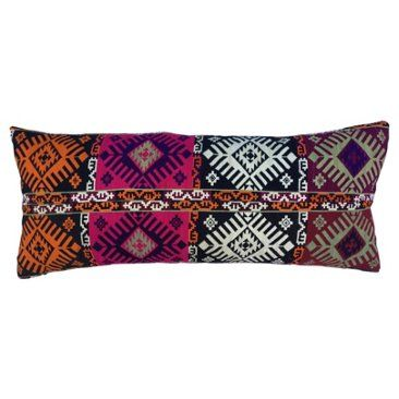 Check out this item at One Kings Lane! Pillow w/ Antique Woven Turkmen Textile