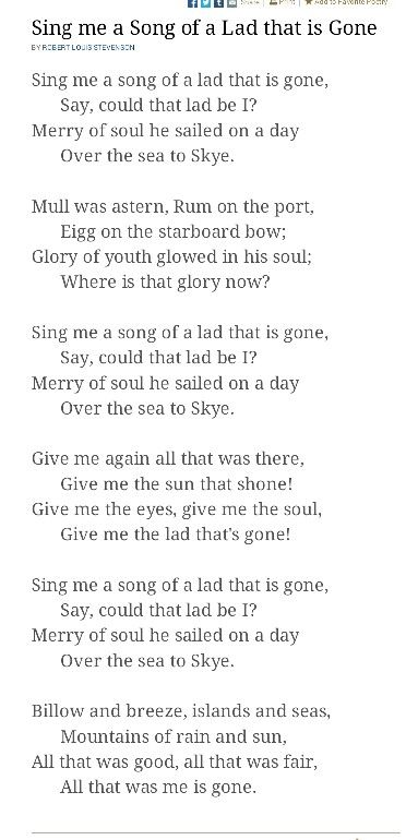 """The Skye Boat Song"" is a Scottish folk song, which can be played as a waltz, recalling the escape of Prince Charles Edward Stuart (Bonnie Prince Charlie) from Uist to the Isle of Skye after his defeat at the Battle of Culloden in 1746."