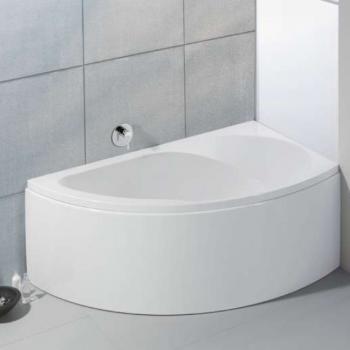 Hoesch SPECTRA Eck Badewanne rechts, mit Schürze weiß