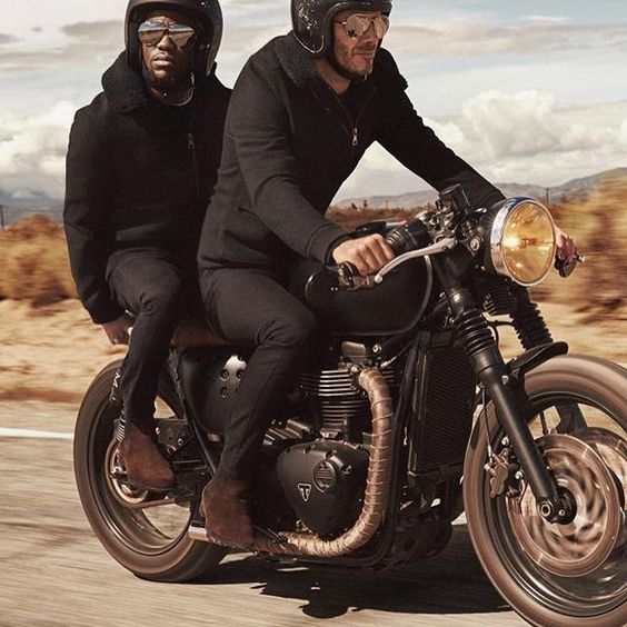 The dynamic duo @davidbeckham and @kevinhart4real on the road together Who would you two up with? Tag 'em! . . . #croig #caferacersofinstagram: