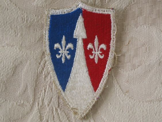 MILITARY SHOULDER PATCH Tascom (Theater Army Support Command Europe) 1951 - 1969   http://ajunkeeshoppe.blogspot.com/   Junk_684