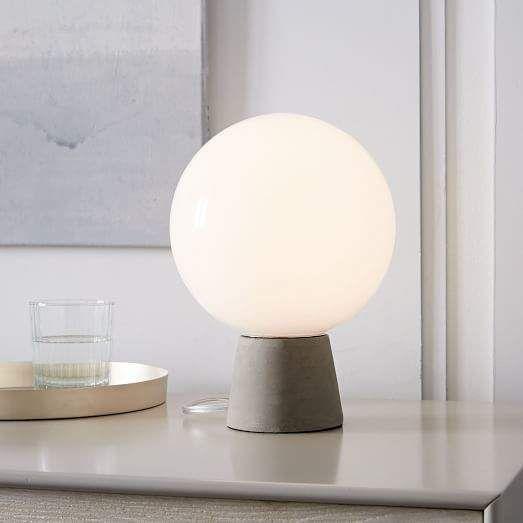 West Elm Nova Table Lamp Concrete Farmhouselamps Table Lamp Modern Table Lamp Concrete Table Lamp