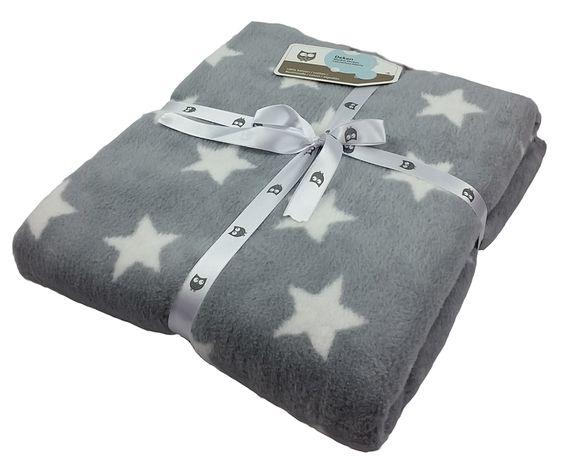 Briljant Baby Fleece Baumwoll-Babydecke Sterne grau/weiß - 75 x 100cm - im Fantasyroom Shop online bestellen oder im Ladengeschäft in Lörrach kaufen. Besuchen Sie uns!