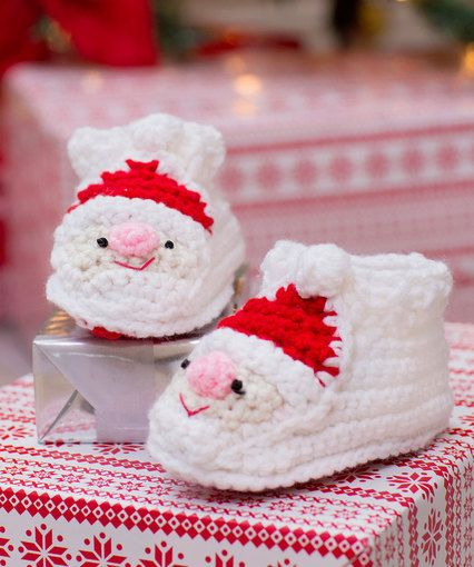 Child's Santa Slippers: