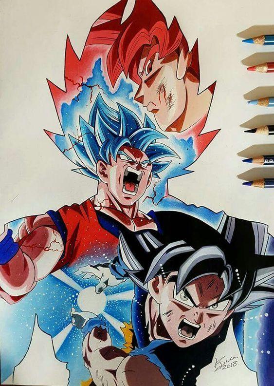 Como Desenhar Goku Nível Instinto Superior Dragonballz
