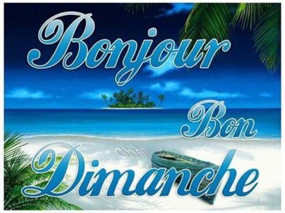 Bonjour et bon Dimanche à tous ..