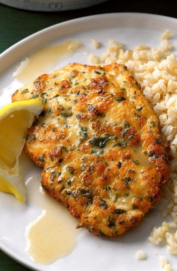 chicken piccata w/ lemon sauce