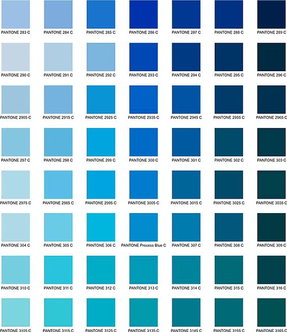 Shades of blue i like the 4th column all of the top four for Shades of all colors