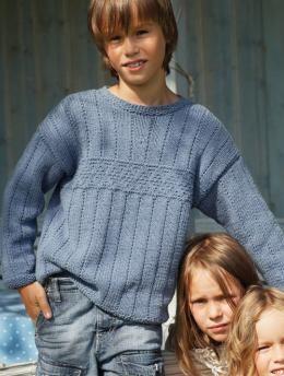 Patrón suéter con textura de niño, S6939 Gratis Patrón