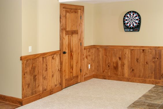Knotty pine interior doors and pine on pinterest for Door design with groove
