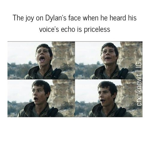 Dylan O´Brien - The Scorch Trials>>> i could not stop laughing and smiling at this part in the gag reel!!