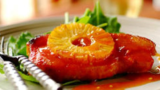 Sweet and Sour Kassler Chops with Pineapple