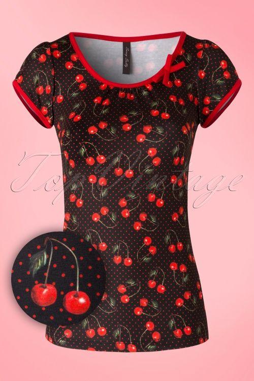Sassy Sally Cherry Art T Shirt 111 14 16453 20150911 006W1