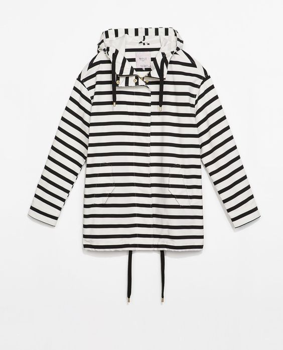 STRIPED PARKA - Outerwear - TRF - COLLECTION AW14 | ZARA Canada Ref. 4391/203 99.90 CAD OUTER SHELL 49% POLYESTER, 48% COTTON, 3% ELASTANE