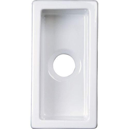 Barclay 9 62 In X 19 In White Single Bowl Undermount Residential