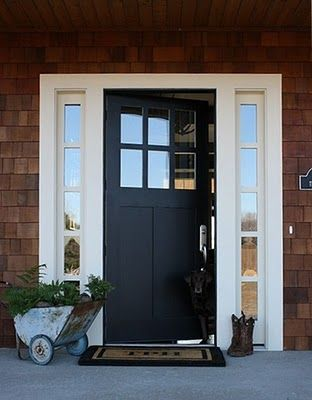 Front door option with cedar shake siding