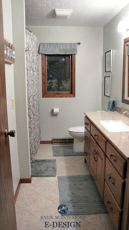 43++ Bathroom with honey oak cabinets best