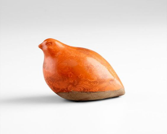 Cyan Design 05675 4 Partridge Sculpture Orange Home Decor Accents Statues Figurines