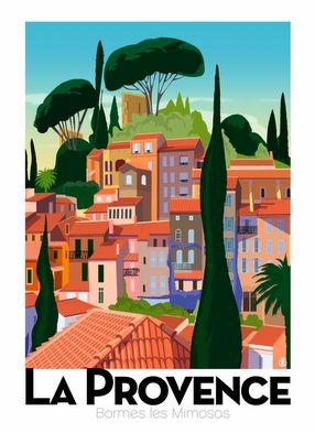 Poster print By Richard Zielenkiewicz, La Provence.