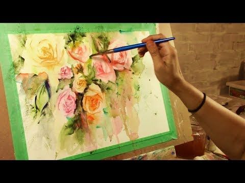 How To Paint Loose Watercolour Flowers Youtube Loose