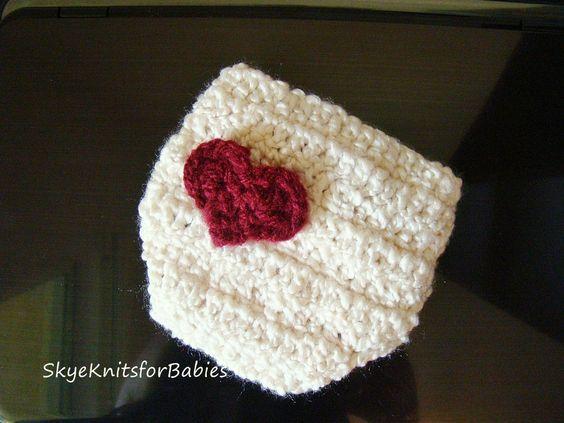 Crochet Sweetheart Diaper Cover. $14.95, via Etsy.